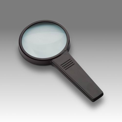 D 010 - LCH 8275 G -  Magnifier for reading with solid rectangular handle