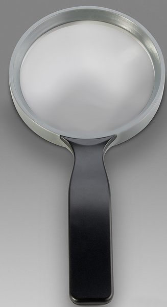 D 187 - LCH 8375G - Magnifier for reading with anatomic handle