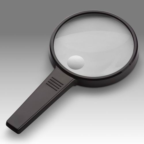 D 015 - LCH 8290A - Magnifier for reading with solid rectangular handle